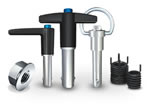 Jergens Specialty Fasteners - Threaded inserts and spinner grip nuts  to Kwik-Lok Pins.